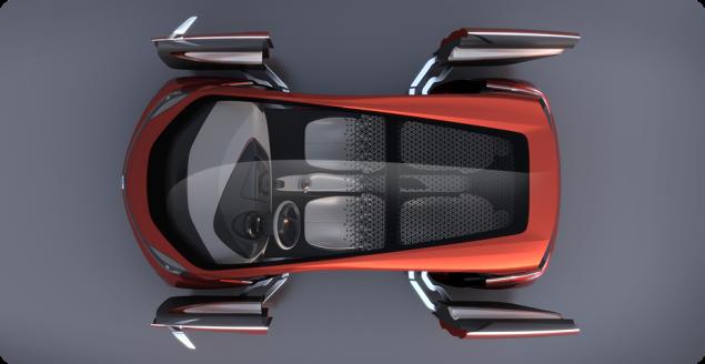Tata Megapixel concept car. Image by Tata Motors