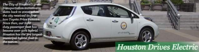 The City of Houston drives electric. Image courtesy of City of Houston.