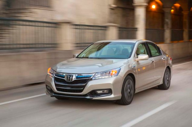 Honda Accord PHEV Plug-in Hybrid with 13 miles/21 km range. Priced at $36,154-39,780. Seats 5. 115 MPGe on battery; 46 MPG on gas