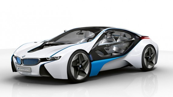 BMW i8 PHEV Plug-in Hybrid with 15 miles/24 km of battery-only range. Priced at $131,907-135,700. Seats 4. 76 MPGe