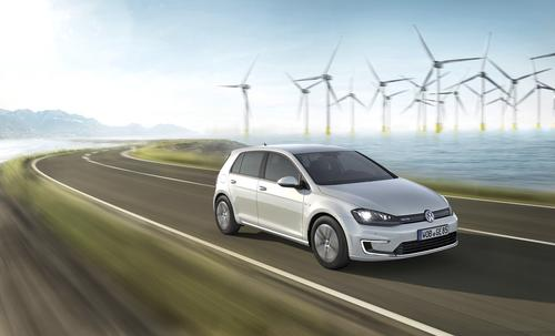 Volkswagen e-Golf 100% electric with 83 miles/134 km range. Priced at $27,945-35,445. Seats 5. 116 MPGe