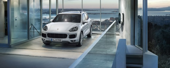Porsche Cayenne S E-Hybrid Plug-in Hybrid with 14 miles/23 km range. Priced at $71,064-76,400. Seats 5. 47 MPGe