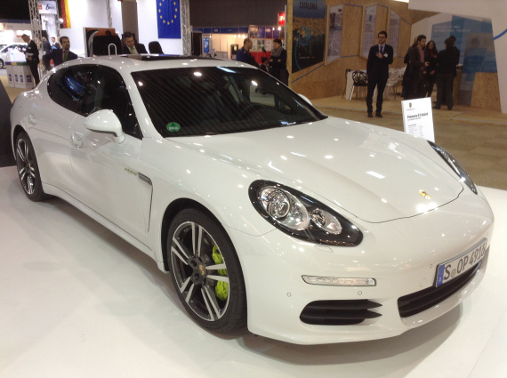 Porsche Panamera S E-Hybrid Plug-in Hybrid with 22 miles/35 km. Priced at $94,248-99,000. Seats 4. 50 MPGe