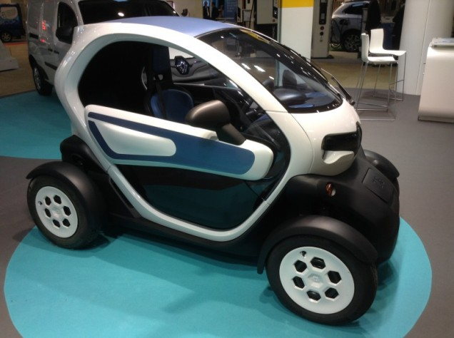 Renault Twizy 100% electric 50 miles 80 km $12,490 on eBay Top speed = 50 mph 80 kmh
