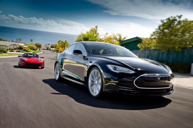TESLA Model S 100% electric with 208-270 miles/335 km-435 km range -- depending on the battery option selected. Priced at $54,570-71,070 depending on battery option 5-7 seats 95 MPGe